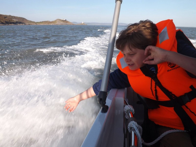 Sent in by Chris Williams - Rhys loving our new boat thank you!!