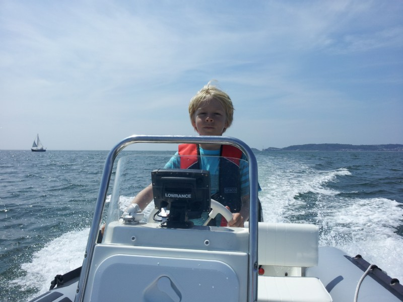 Sent in by Mark - Oliver's first day out at sea with Carpe Nutella