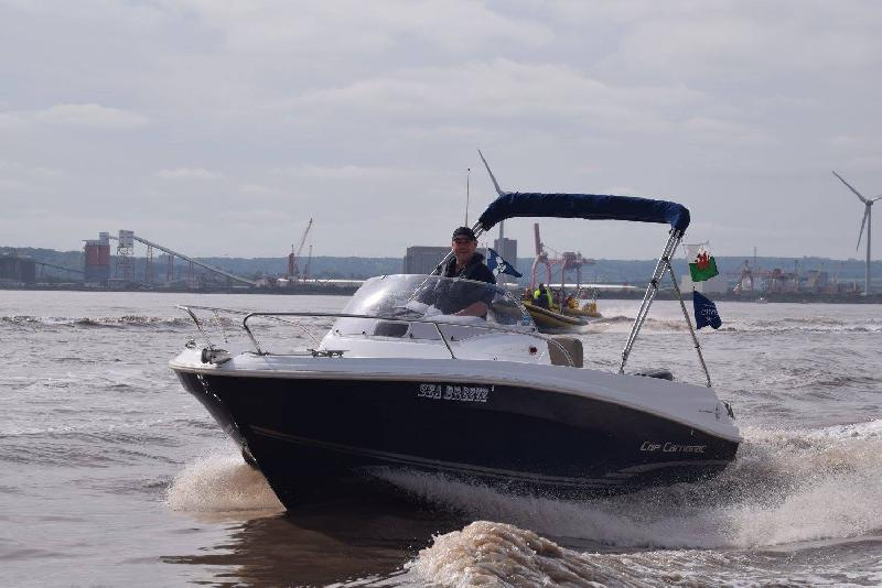 Sent in by David Richards - 2and a half year old and still looking fantastic, pic taken on the B2P charity RHIB run 28th May 81 mile round trip